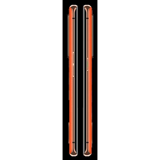 OPPO RENO 4 Pro lateral, Naranja cuero vegano