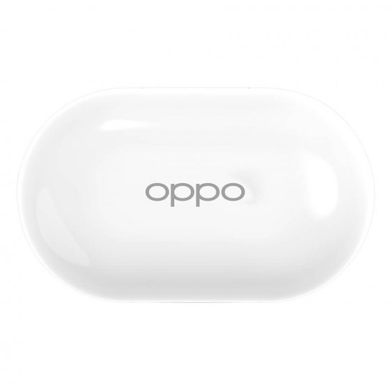 Auriculares OPPO Enco W11 Estuche blanco, de carga, frontal