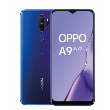 OPPO A9 2020 Space Purple Frontal y Trasera