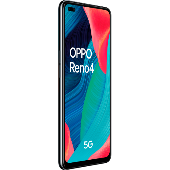 Oppo reno 4 5g, diagonal, frontal, space black