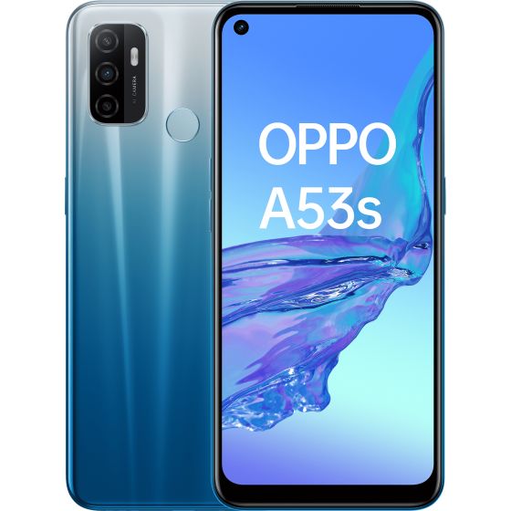 OPPO A53 S Fancy Blue, Frontal, Trasera