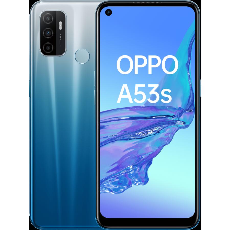 OPPO A53 S Fancy Blue, Frontal, Trasera