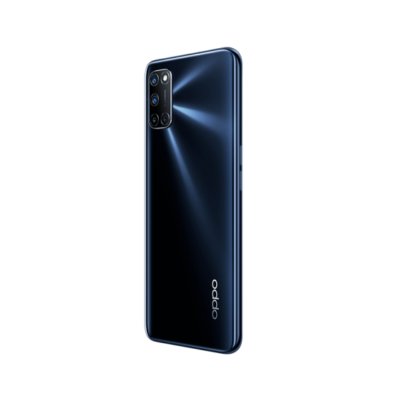 OPPO A72 Twilight Black, Diagonal trasera