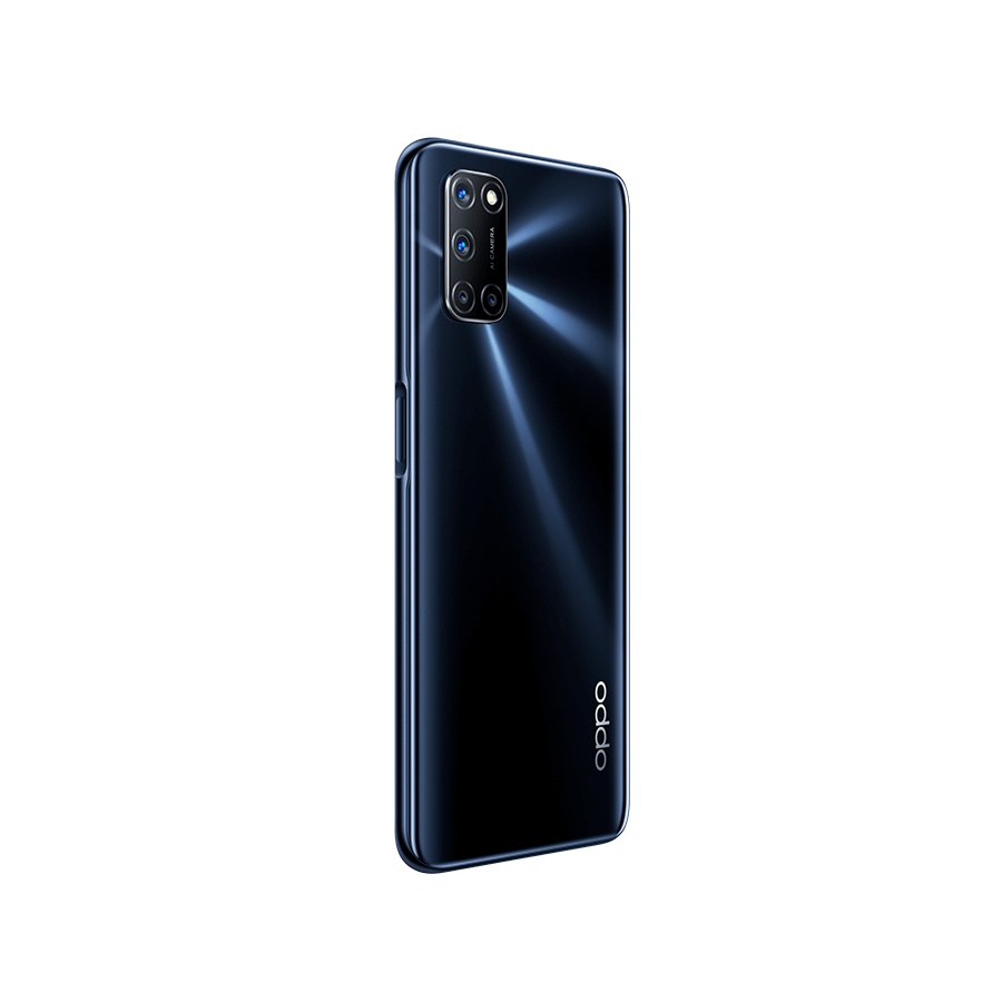 OPPO A72 Twilight Black, trasera diagonal